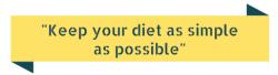 keep diet simple